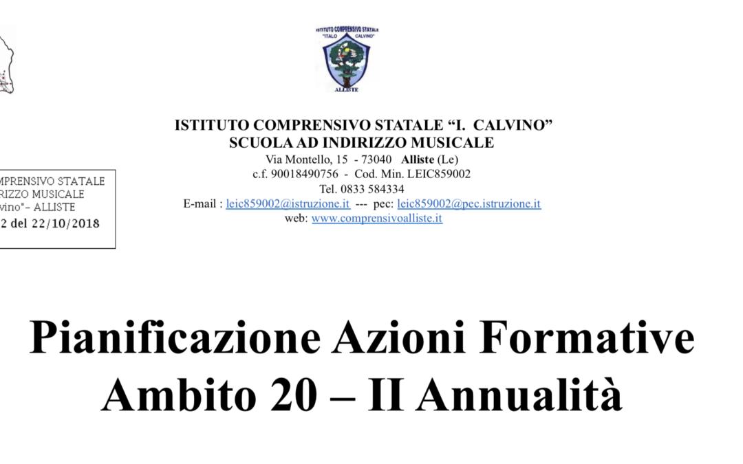 Piano di formazione ambito 20 II annualità